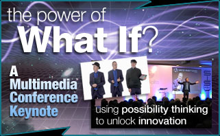 innovation creativity motivational talk keynote for after lunch or dinner conference