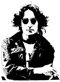 john lennon ink drawing 1974